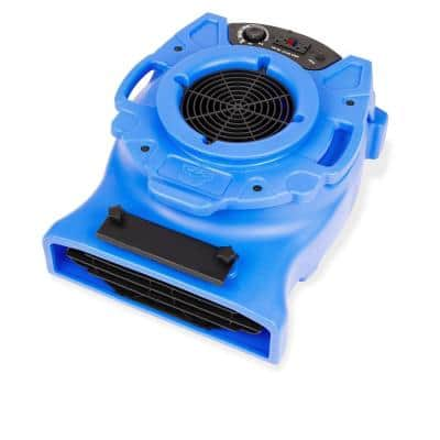 1/4 HP Low Profile Blue Air Mover Blower Fan for Water Damage Restoration Carpet Dryer Floor