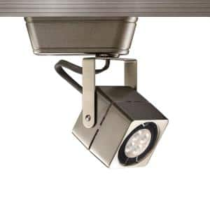 HT-802 1-Light Brushed Nickel Low Voltage Track Head with 8-Watt LED Bulb 50-Watt Max for H Track