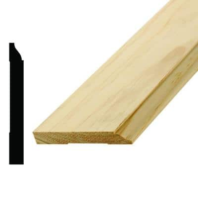 WM 620 9/16 in. x 4-1/4 in. x 96 in. Wood Pine Base Moulding