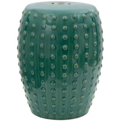 Green Porcelain Ottoman