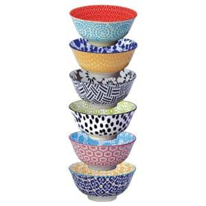 Chelsea Multi-color Bowls (Set of 6)