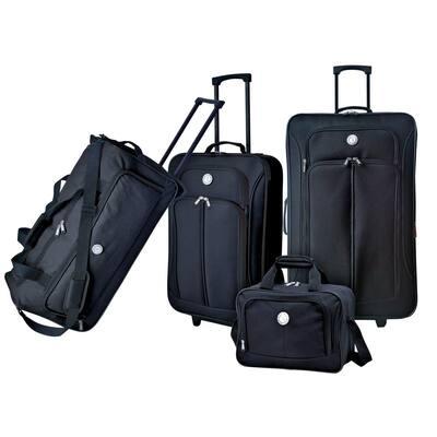 4-Piece Eva-Styled Soft side Value Luggage Set
