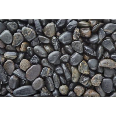 3/8 in. Polished Black Gravel (20 lbs. Bag)