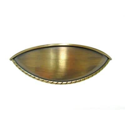3-3/4 in. (96 mm) Center-to-Center Antique English Traditional Drawer Pull