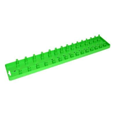 Grip 1/2 in. No Compartments Socket Tray, Green