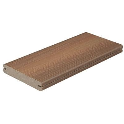 Horizon 1 in. x 5-1/4 in. x 1 ft. Ipe Grooved Edge Capped Composite Decking Board Sample