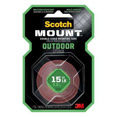 1 in. x 60 in. Outdoor Double-Sided Mounting Tape (Case of 24)