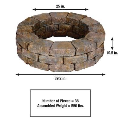 RumbleStone 39 in. x 10.5 in. Tree Ring Kit in Sierra Blend