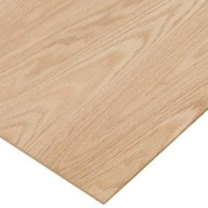 1/4 in. x 2 ft. x 2 ft. PureBond Red Oak Plywood Project Panel (Free Custom Cut Available)