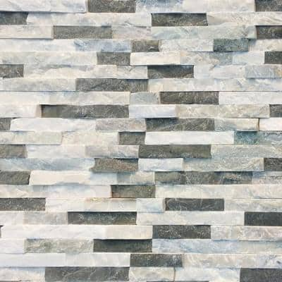 Sierra Blue 6 x 16 x 8 in. Natural Stacked Stone Veneer Corner Siding Exterior/Interior  Wall Tile (10-Box/45.8 sq ft)