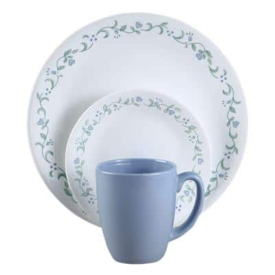 16-Piece Casual Country Cottage Glass Dinnerware Set (Service for 4)