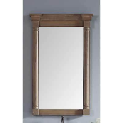 Savannah/Providence 27 in. x 43 in. Single Framed Mirror in Driftwood