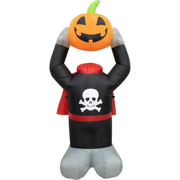 Haunted Hill Farm 6 Ft Pumpkin Halloween Inflatable With Lights Hhfinpump06 1la The Home Depot