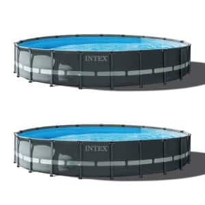 20 ft. x 48 in. Ultra XTR Round Swimming Pool Set and Sand Filter Pump (2-Pack)