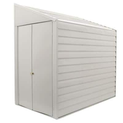 Yard Saver 4 ft. W x 7 ft. D  White Galvanized Metal Storage Shed