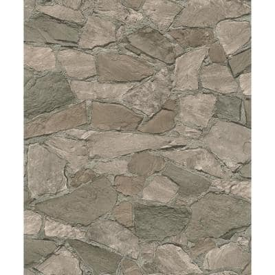 Stanley Charcoal Stone Paper Strippable Wallpaper (Covers 56.4 sq. ft.)