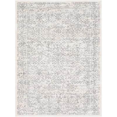 Saul White 6 ft. 7 in. x 9 ft. Area Rug