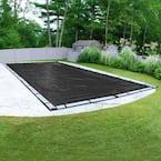 Mesh 20 ft. x 40 ft. Rectangular Black Mesh In Ground Winter Pool Cover
