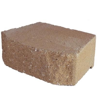 6.75 in. L x 11.63 in. W x 4 in. H Tan Concrete Retaining Wall Block (144-Piece/46.6 sq. ft./Pallet)
