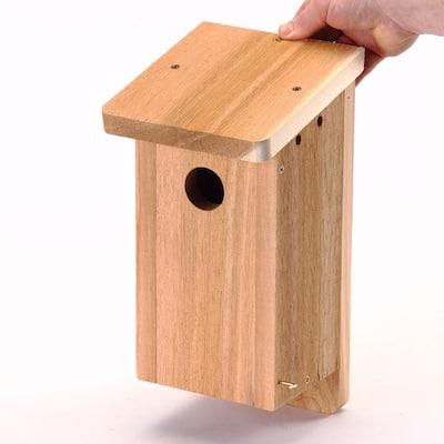 Songbird Nest Box Bird House Kit, Natural