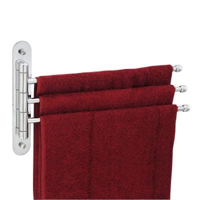 15 in. Stainless Steel Triple Swing Towel Bar in Polished Chrome