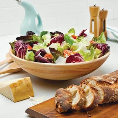 14 in. Wood Pantryware Parawood Salad Bowl