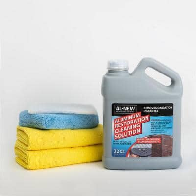 32 oz. Aluminum Restoration Cleaning Solution Kit : Cleaner For Outdoor Patio Furniture, Stainless Steel, and More