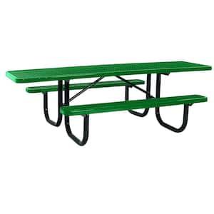 Portable 8 ft. Green Diamond Commercial ADA Rectangular Table