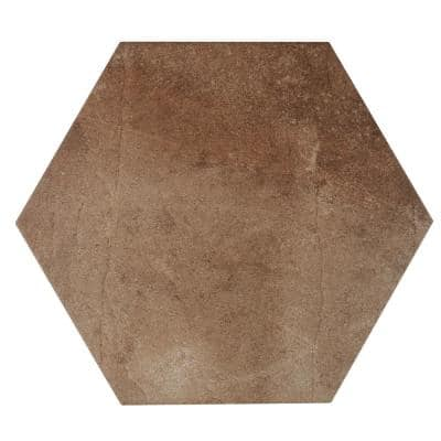 Metro Brown Hexagon 14 in. x 16 in. Matte Glazed Porcelain Floor and Wall Tile (10.07 sq. ft. / Case)
