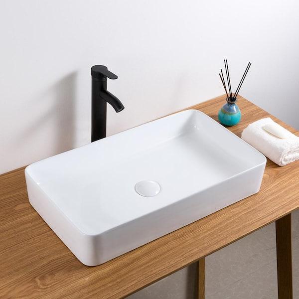 Ruvati 24 In Rectangular Above Vanity, Bathroom Vessel Vanity