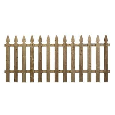 3.5 ft. x 8 ft. Pressure-Treated Pine French Gothic Fence Panel