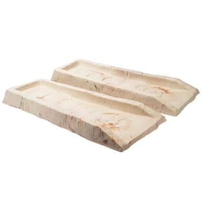 10.6 in. x 23.3 in. x 2.3 in. Beige Natural Stone Texture Splash Block (Pack of 2)