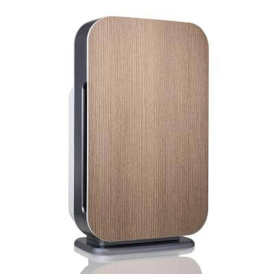 Customizable Air Purifier with HEPA-Silver Filter to Remove Allergies Mold and Bacteria in Gray