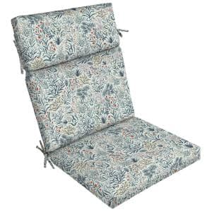 21 x 24 Pistachio Botanical Outdoor Dining Chair Cushion