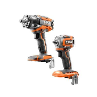 18V Brushless Cordless 2-Tool Combo Kit with OCTANE 1/2 in Impact Wrench & SubCompact 3/8 in Impact Wrench (Tools Only)