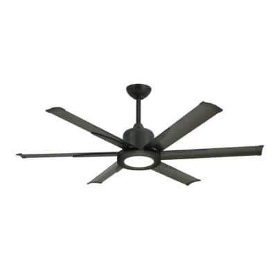 Titan II 52 in. LED Indoor/Outdoor Oil Rubbed Bronze Ceiling Fan with Light with Remote Control