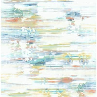 Brushed Stripe Abstract Vinyl Peel & Stick Wallpaper Roll (Covers 30.75 Sq. Ft.)