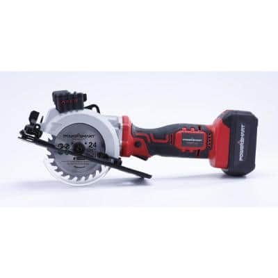 20-Volt Cordless 4-1/2 in. Mini Circular Saw with 4.0 Ah Battery and Charger