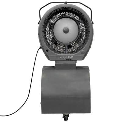 Cyclone 23 in. Reservoir Misting Fan 18 Gal. in Gray, Cools 800 sq. ft.