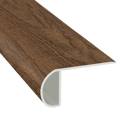 Tawny Pine 1.03 in. T x 2.23 in. W x 94 in. Length Overlap Vinyl Stair Nose