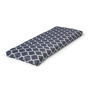 46.5 in. x 17.5 in. x 3 in. CushionGuard Midnight Trellis Deluxe Outdoor Bench Cushion