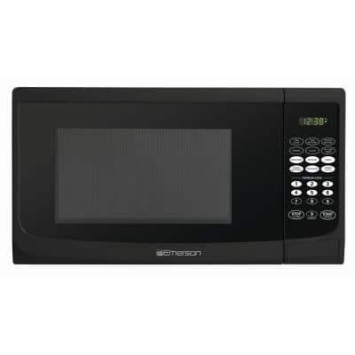 0.9 cu. ft. 900-Watt Countertop Microwave Oven in Black