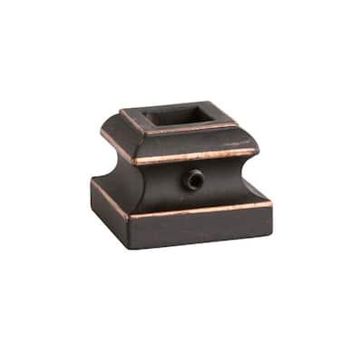 Square Hole 1.3125 in. Aluminum Level Shoe Baluster Shoe Oil Rubbed Copper