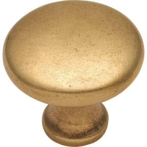 Conquest 1-1/8 in. Lustre Brass Cabinet Knob