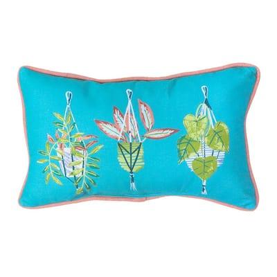 Hanging Plants Outdoor Lumbar Pillow (1-Pack)
