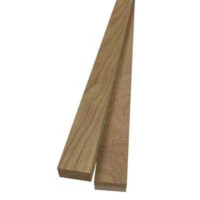 1 in. x 2 in. x 8 ft. Cherry S4S Board (2-Pack)