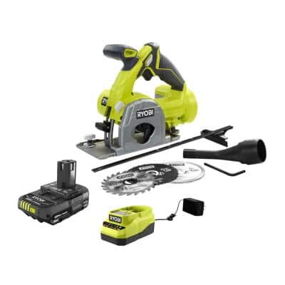 ONE+ 18V Cordless Multi-Material Saw with 2.0 Ah Battery and Charger