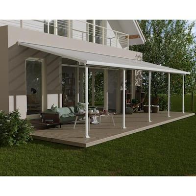 Feria 10 ft. x 30 ft. White/White Aluminum Patio Cover