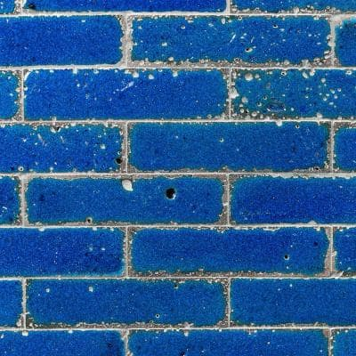 Magma Stone Blue Brick 3 in. x 12 in. 19mm Glazed Subway Tile (4.11 sq. ft. / box, 17 pieces per set )