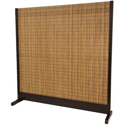6 ft. Brown 3-Panel Take Room Divider
